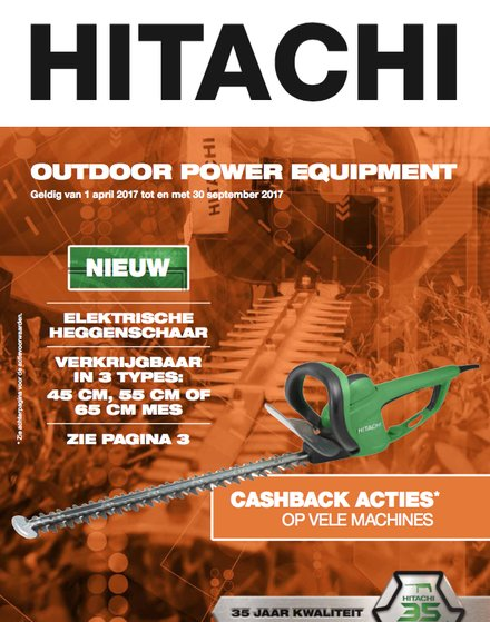 Tuinpromoties Hitachi Power Tools